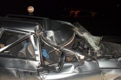 Натрассе вБашкортостане «бесправный» шофёр «ВАЗа» врезался в«КамАЗ»