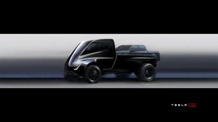 Tesla показала эскизы электро-пикапа набазе грузового автомобиля Semi