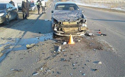 Втройном ДТП вБашкирии пострадал шофёр