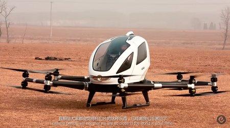 Китайцы показали тестовый полет дрона-такси