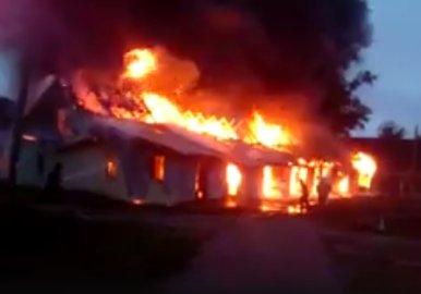 В Уфе сгорело жилое здание