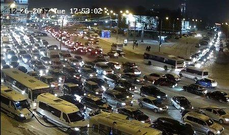 Пробки в столице России достигли 9-ти баллов
