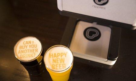 ВRipples создали аппарат, который печатает рисунки напивной пене