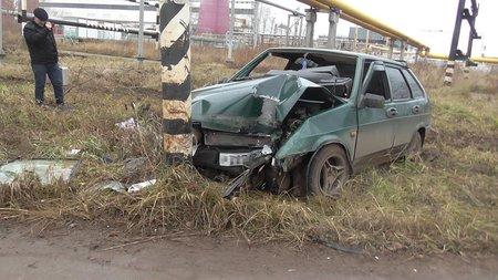 ВБашкирии нетрезвый шофёр протаранил столб