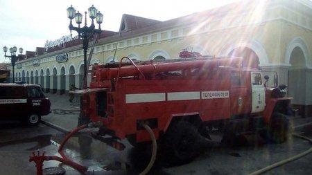 ВУфе загорелась кровля «Гостинки», изздания эвакуировали людей