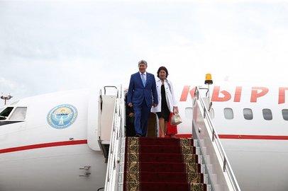 ВУфу прилетел президент Киргизии: погороду проехал кортеж высокопоставленного гостя