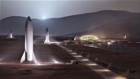 Маск обнародовал всоцсети изображение будущей базы наМарсе