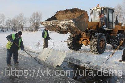 ВУфе изозера Глубокого вырежут 300 тонн льда