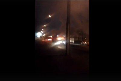 ВУфе дотла сгорел пассажирский автобус