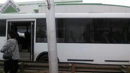 ВУфе наспуске упассажирского автобуса отказали тормоза