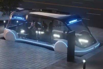 Илон Маск показал концепцию подземного электробуса